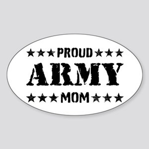 Proud Army Mom [v] Sticker (Oval)